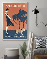 Vintage Girl She Lived Happily Bulldog 11x17 Poster lifestyle-poster-1
