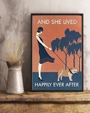 Vintage Girl She Lived Happily Bulldog 11x17 Poster lifestyle-poster-3