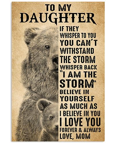 Mom To My Daughter Believe In Yourself Bear