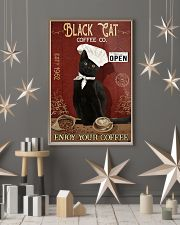 Black Cat Coffee Co Enjoy Your Coffee  11x17 Poster lifestyle-holiday-poster-1
