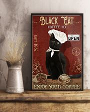 Black Cat Coffee Co Enjoy Your Coffee  11x17 Poster lifestyle-poster-3