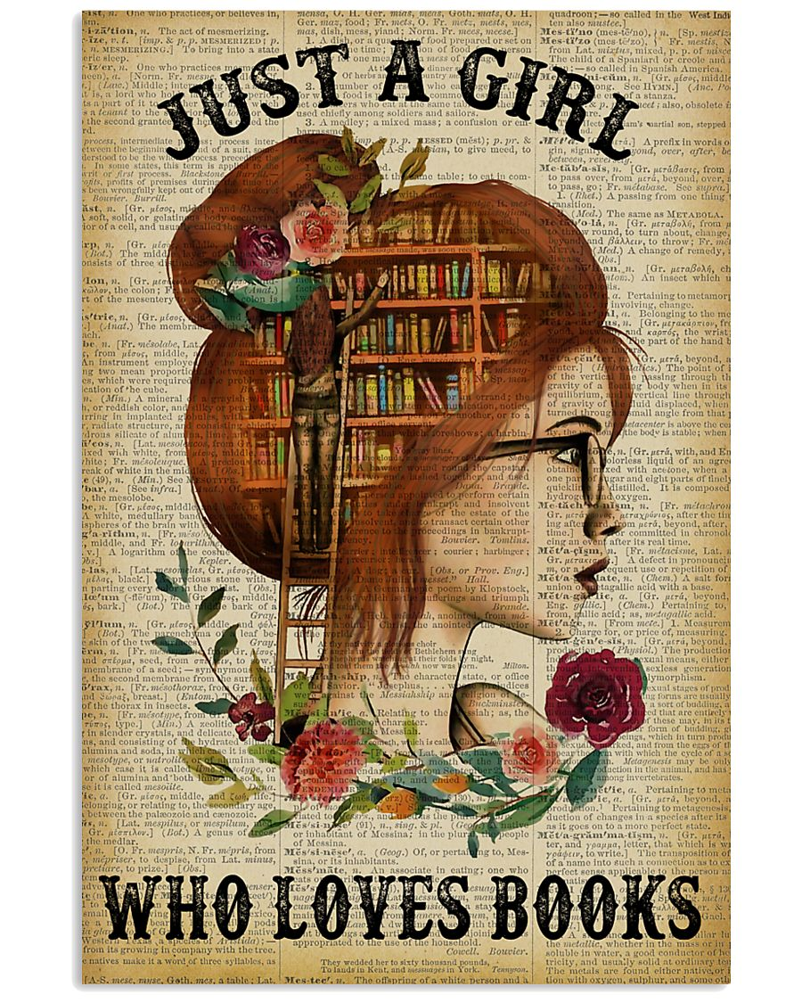 Just A Girl Who Loves Books Redhead Reading 11x17 Poster