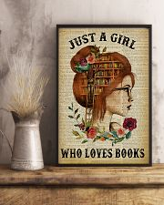 Just A Girl Who Loves Books Redhead Reading 11x17 Poster lifestyle-poster-3