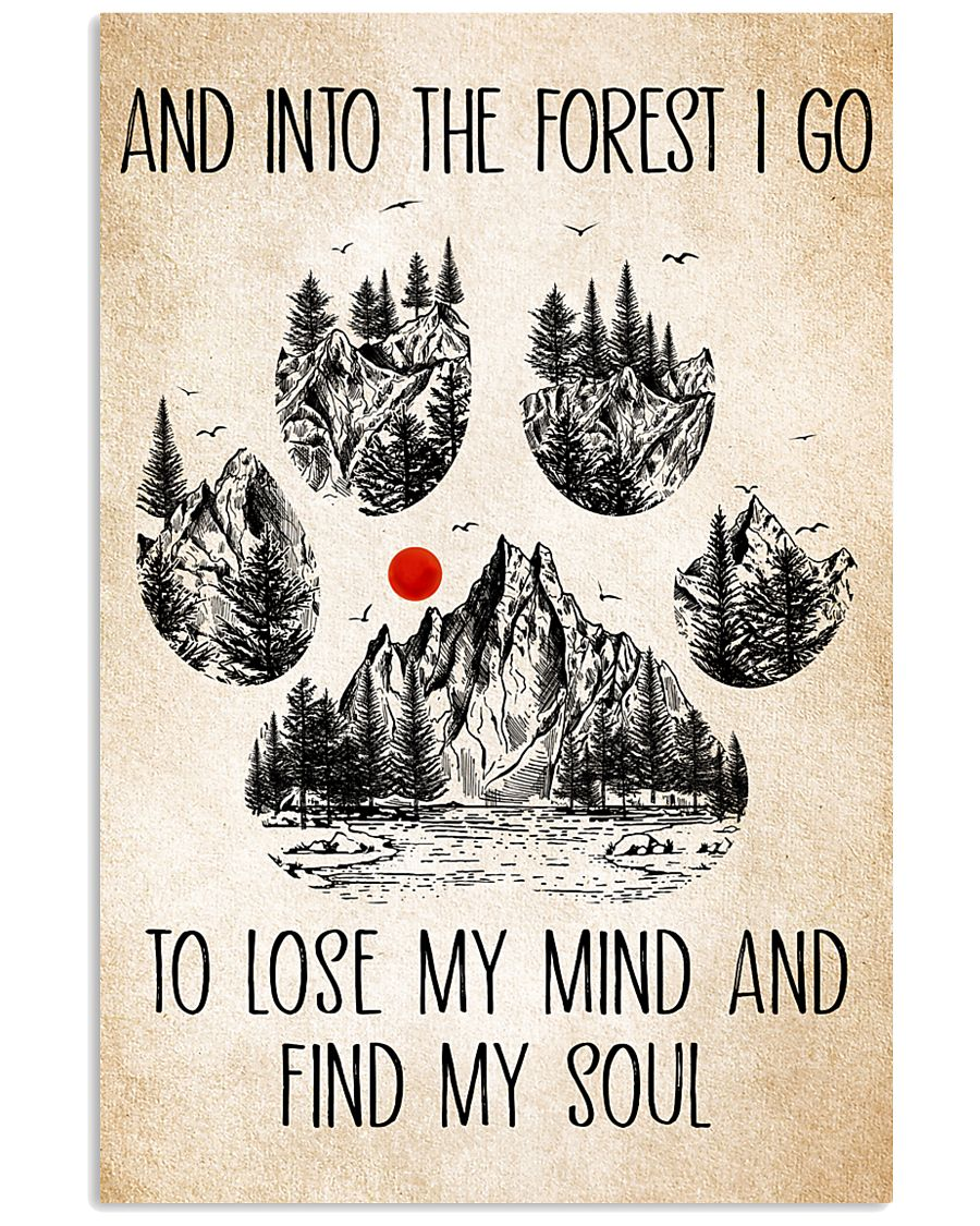 Into The Forest Camping Dog Poster Dogs 11x17 Poster