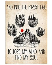 Into The Forest Camping Dog Poster Dogs 11x17 Poster front