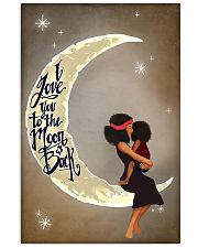 Love You To The Moon Black Girl Motherhood 11x17 Poster front
