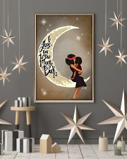 Love You To The Moon Black Girl Motherhood 11x17 Poster lifestyle-holiday-poster-1