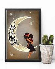 Love You To The Moon Black Girl Motherhood 11x17 Poster lifestyle-poster-8