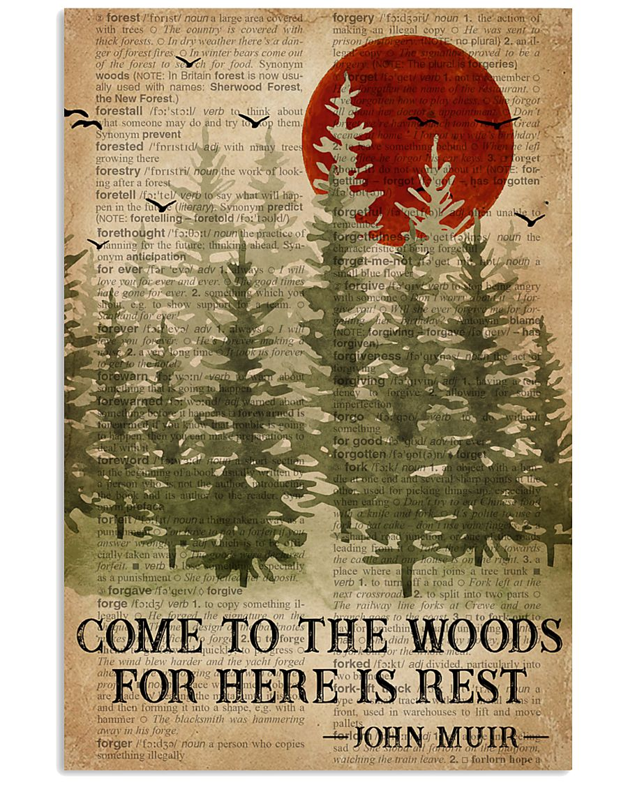 Sleep In The Woods Dictionary Camping 16x24 Poster