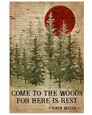 Sleep In The Woods Dictionary Camping 16x24 Poster front