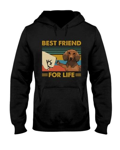 Retro Blue Best Friend For Life Dachshund