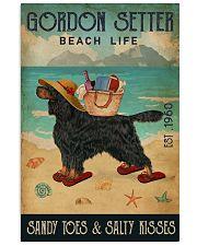 Beach Life Sandy Toes Gordon Setter 11x17 Poster front