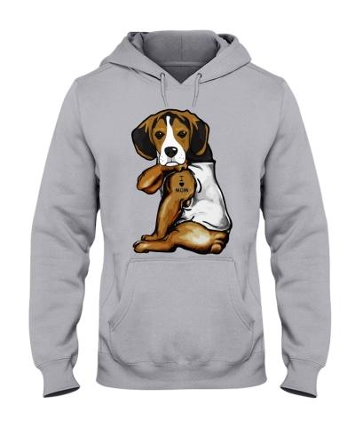 I Love Mom Tattoo Beagle