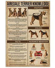 Airedale Terrier Knowledge 11x17 Poster front