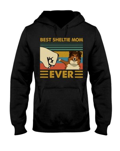 Retro Blue Best Shetland Sheepdog Mom Ever