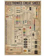 Electronics Cheat Sheet 16x24 Poster front