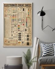 Electronics Cheat Sheet 16x24 Poster lifestyle-poster-1