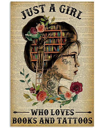 A Girl Who Loves Books And Tattoos Reading
