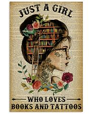 A Girl Who Loves Books And Tattoos Reading 16x24 Poster front