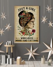 A Girl Who Loves Books And Tattoos Reading 16x24 Poster lifestyle-holiday-poster-1