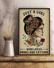 A Girl Who Loves Books And Tattoos Reading 16x24 Poster lifestyle-poster-3