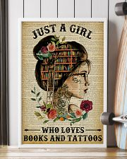 A Girl Who Loves Books And Tattoos Reading 16x24 Poster lifestyle-poster-4