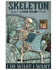 Vintage Living Room Skeleton 11x17 Poster front