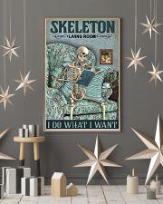 Vintage Living Room Skeleton 11x17 Poster lifestyle-holiday-poster-1