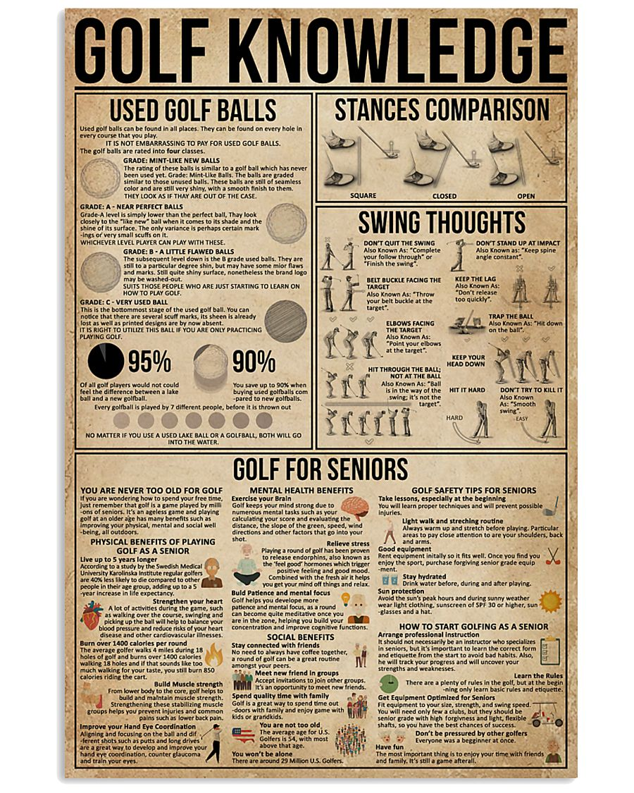 Golf Knowledge 16x24 Poster