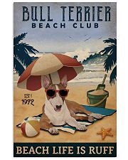 Vintage Beach Club Is Ruff Bull Terrier 11x17 Poster front