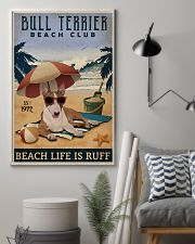 Vintage Beach Club Is Ruff Bull Terrier 11x17 Poster lifestyle-poster-1