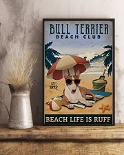 Vintage Beach Club Is Ruff Bull Terrier 11x17 Poster lifestyle-poster-3