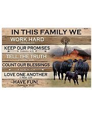 In This Family Black Angus Cattle 17x11 Poster front