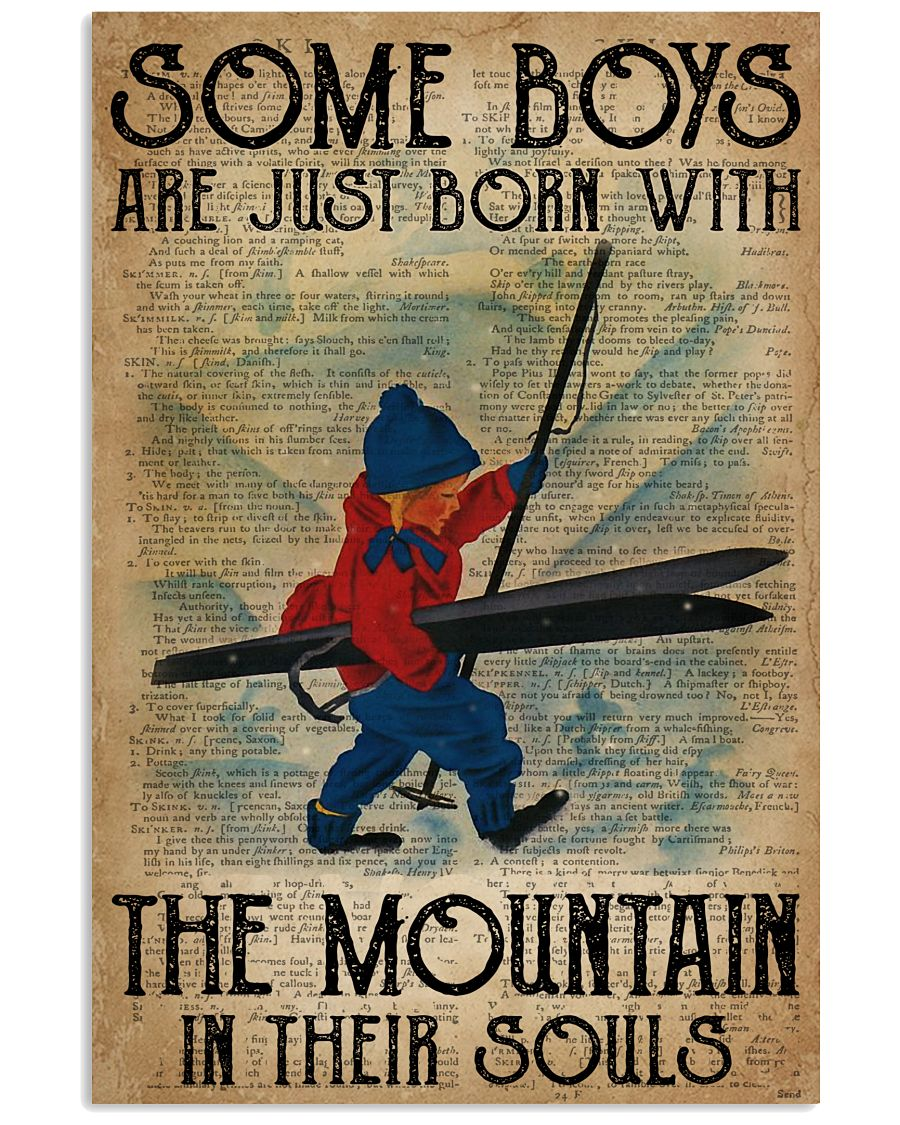 Boys Born With The Mountain Skiing 16x24 Poster