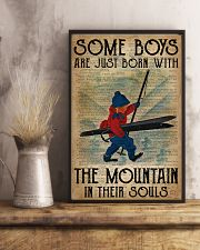 Boys Born With The Mountain Skiing 16x24 Poster lifestyle-poster-3