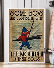 Boys Born With The Mountain Skiing 16x24 Poster lifestyle-poster-4