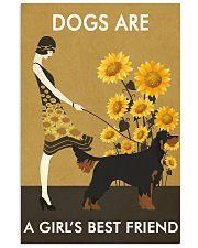 Sunflower Vintage Girl Love Is Gordon Setter 11x17 Poster front