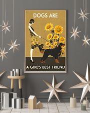 Sunflower Vintage Girl Love Is Gordon Setter 11x17 Poster lifestyle-holiday-poster-1