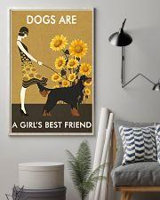 Sunflower Vintage Girl Love Is Gordon Setter 11x17 Poster lifestyle-poster-1