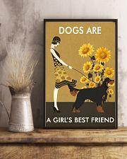 Sunflower Vintage Girl Love Is Gordon Setter 11x17 Poster lifestyle-poster-3