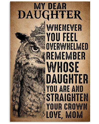 To Daughter Straighten Your Crown Owl