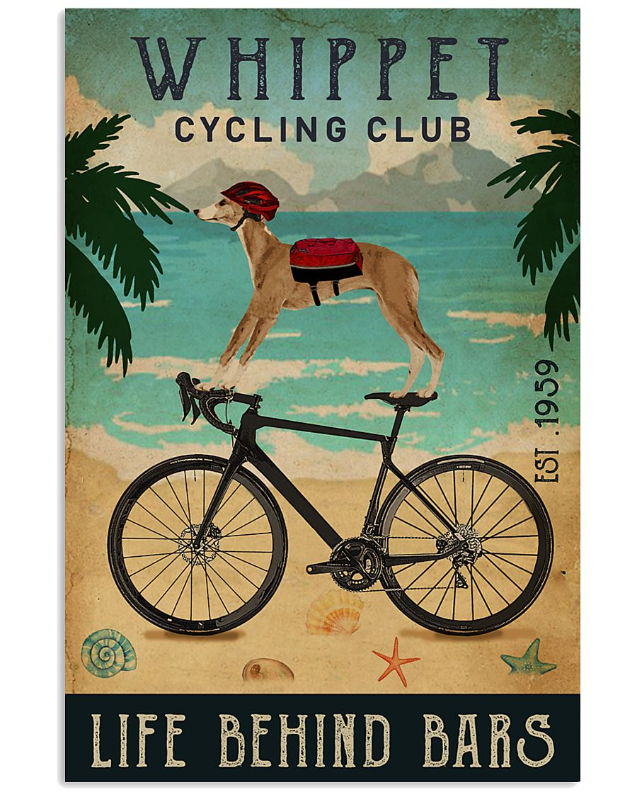 Cycling Club Whippet 11x17 Poster