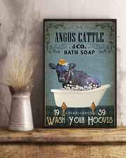Vintage Bath Soap Angus Cattle 11x17 Poster lifestyle-poster-3