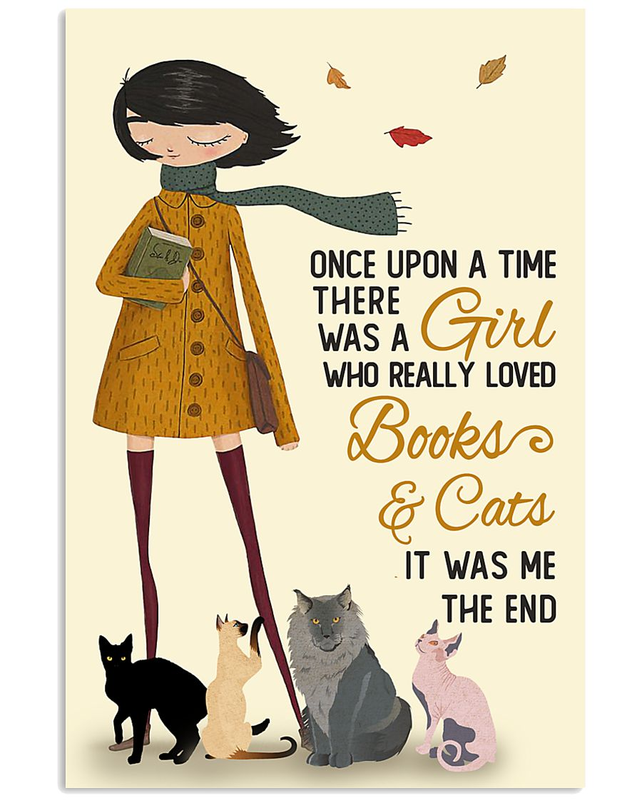 Autumn Girl Once Upon A Time Cats Reading 11x17 Poster