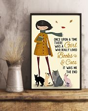 Autumn Girl Once Upon A Time Cats Reading 11x17 Poster lifestyle-poster-3