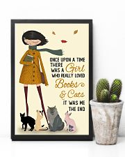 Autumn Girl Once Upon A Time Cats Reading 11x17 Poster lifestyle-poster-8