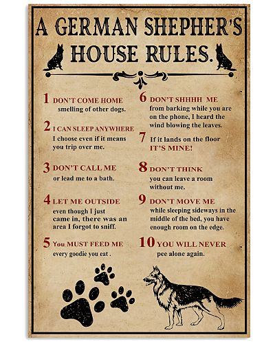 A German Shepher House Rules