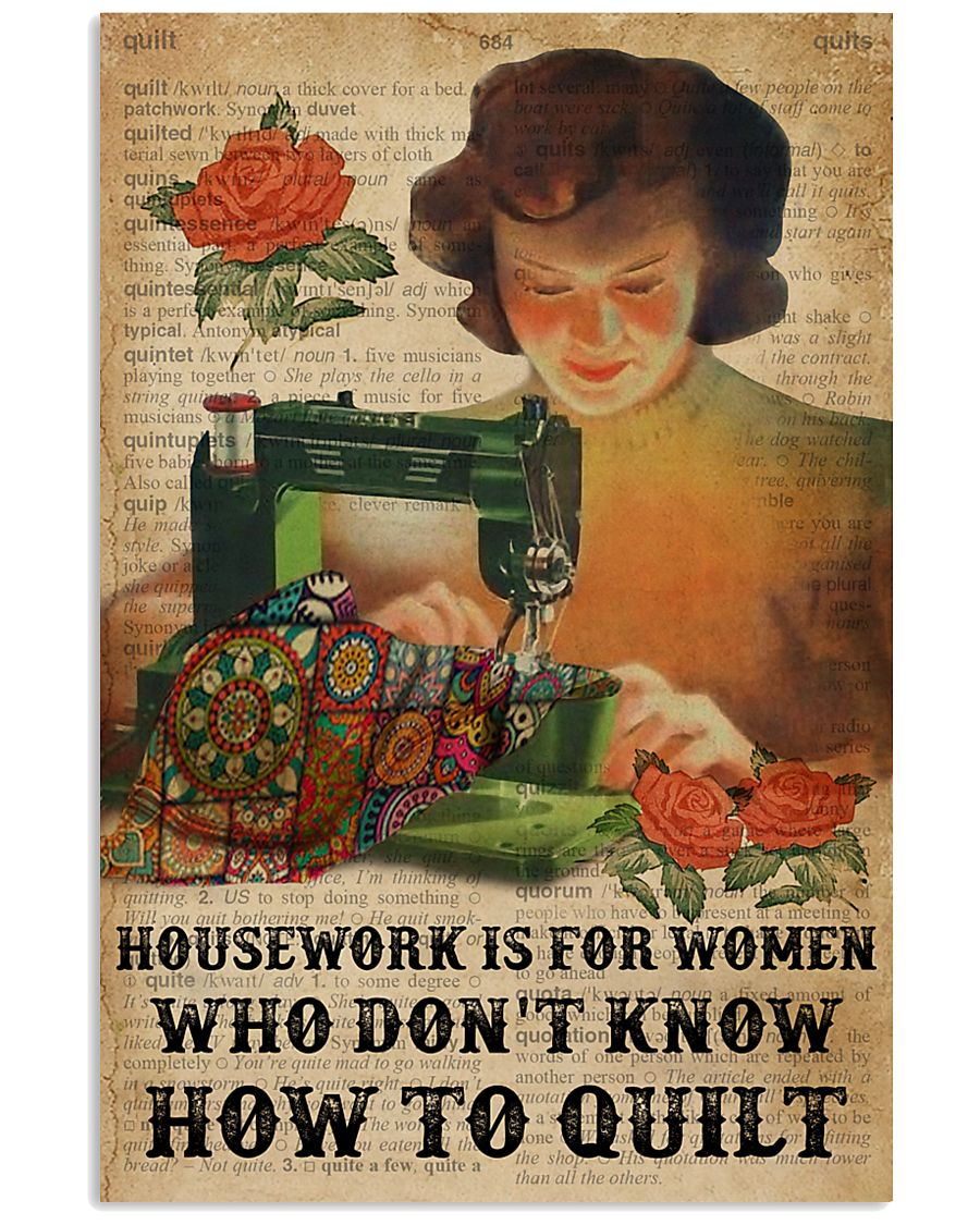 Dictionary Housework For Who Don't Know Quilting 11x17 Poster