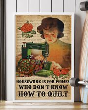 Dictionary Housework For Who Don't Know Quilting 11x17 Poster lifestyle-poster-4