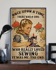 Vintage Dictionary Once Upon A Time Sewing Girl 16x24 Poster lifestyle-poster-2
